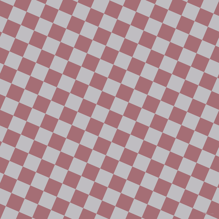67/157 degree angle diagonal checkered chequered squares checker pattern checkers background, 48 pixel square size, , Turkish Rose and French Grey checkers chequered checkered squares seamless tileable