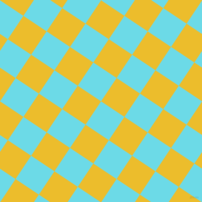 56/146 degree angle diagonal checkered chequered squares checker pattern checkers background, 115 pixel squares size, , Turquoise Blue and Bright Sun checkers chequered checkered squares seamless tileable