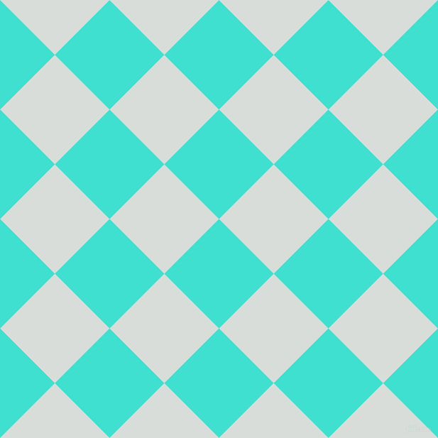 45/135 degree angle diagonal checkered chequered squares checker pattern checkers background, 109 pixel squares size, , Turquoise and Mystic checkers chequered checkered squares seamless tileable