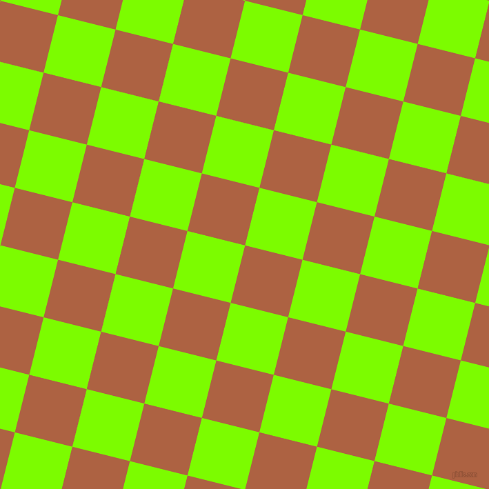 76/166 degree angle diagonal checkered chequered squares checker pattern checkers background, 86 pixel squares size, , Tuscany and Lawn Green checkers chequered checkered squares seamless tileable