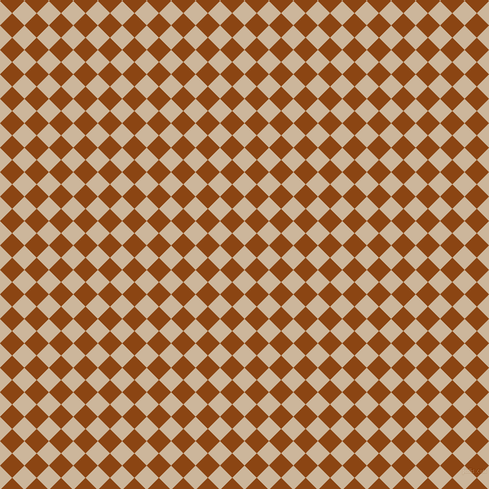 45/135 degree angle diagonal checkered chequered squares checker pattern checkers background, 25 pixel squares size, , Vanilla and Saddle Brown checkers chequered checkered squares seamless tileable