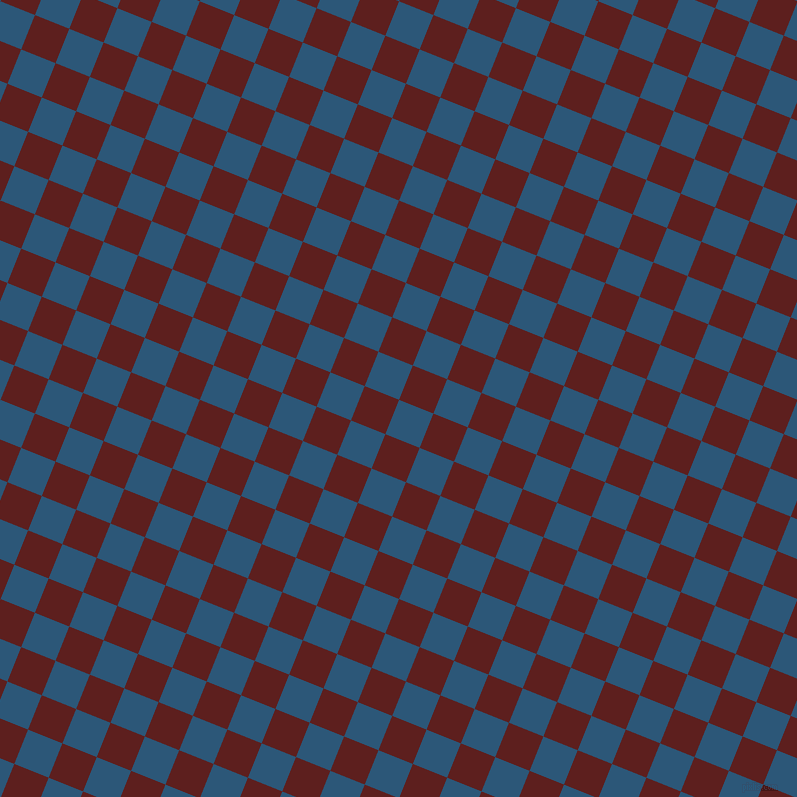 68/158 degree angle diagonal checkered chequered squares checker pattern checkers background, 37 pixel squares size, , Venice Blue and Red Oxide checkers chequered checkered squares seamless tileable