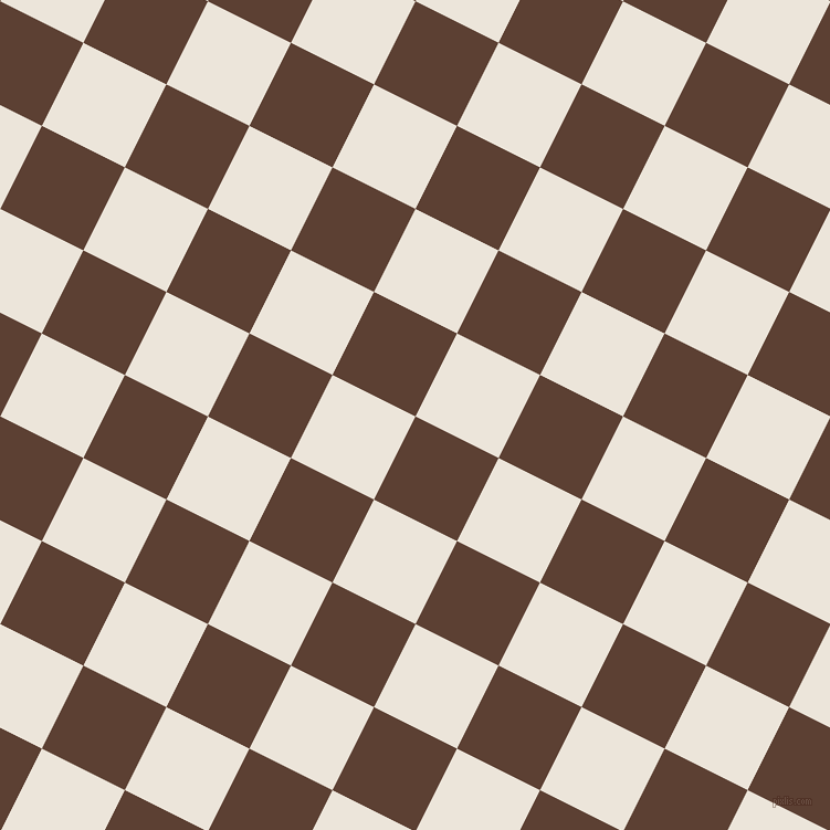 63/153 degree angle diagonal checkered chequered squares checker pattern checkers background, 84 pixel squares size, , Very Dark Brown and Soapstone checkers chequered checkered squares seamless tileable