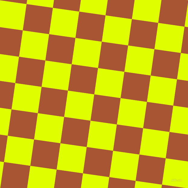 82/172 degree angle diagonal checkered chequered squares checker pattern checkers background, 88 pixel squares size, , Vesuvius and Chartreuse Yellow checkers chequered checkered squares seamless tileable