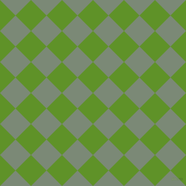 45/135 degree angle diagonal checkered chequered squares checker pattern checkers background, 72 pixel square size, , Vida Loca and Spanish Green checkers chequered checkered squares seamless tileable