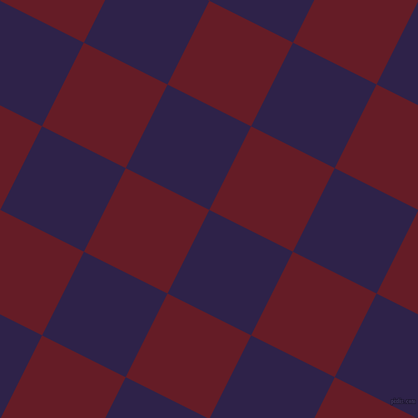 63/153 degree angle diagonal checkered chequered squares checker pattern checkers background, 134 pixel square size, , Violent Violet and Pohutukawa checkers chequered checkered squares seamless tileable