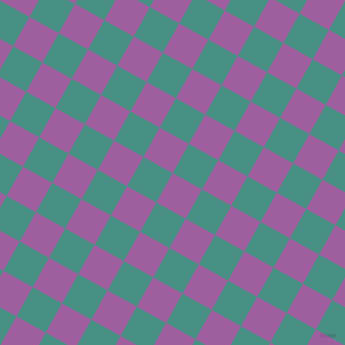 61/151 degree angle diagonal checkered chequered squares checker pattern checkers background, 68 pixel square size, , Violet Blue and Lochinvar checkers chequered checkered squares seamless tileable