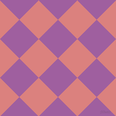 45/135 degree angle diagonal checkered chequered squares checker pattern checkers background, 95 pixel square size, , Violet Blue and Sea Pink checkers chequered checkered squares seamless tileable