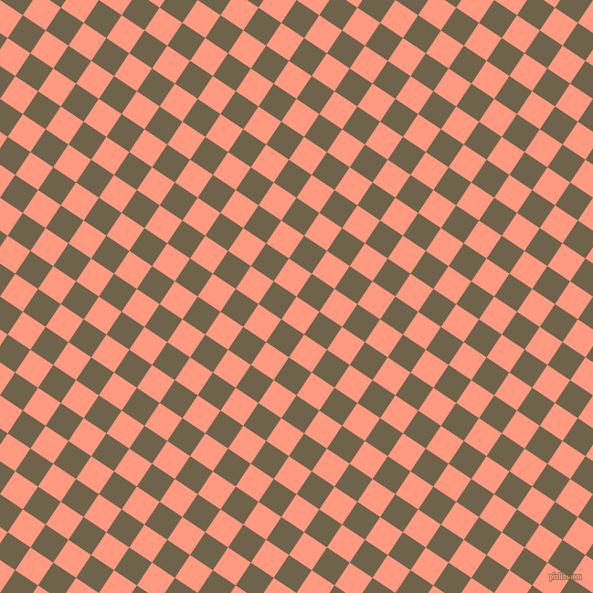 56/146 degree angle diagonal checkered chequered squares checker pattern checkers background, 30 pixel squares size, , Vivid Tangerine and Soya Bean checkers chequered checkered squares seamless tileable