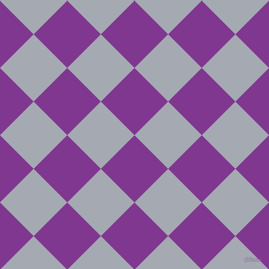 45/135 degree angle diagonal checkered chequered squares checker pattern checkers background, 96 pixel squares size, , Vivid Violet and Mischka checkers chequered checkered squares seamless tileable