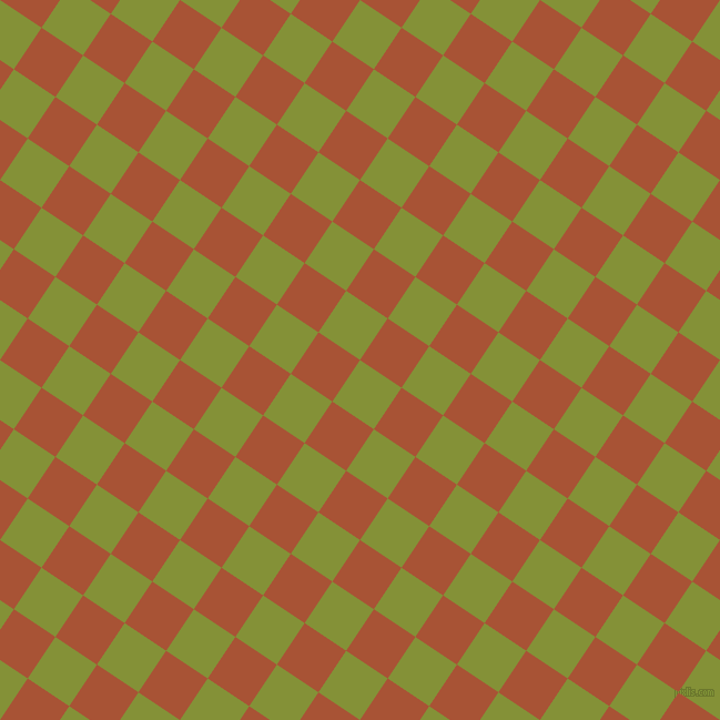 56/146 degree angle diagonal checkered chequered squares checker pattern checkers background, 45 pixel squares size, , Wasabi and Orange Roughy checkers chequered checkered squares seamless tileable