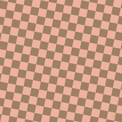 79/169 degree angle diagonal checkered chequered squares checker pattern checkers background, 34 pixel squares size, , Wax Flower and Sorrell Brown checkers chequered checkered squares seamless tileable