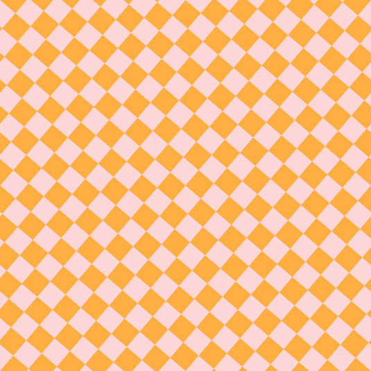 49/139 degree angle diagonal checkered chequered squares checker pattern checkers background, 29 pixel square size, , We Peep and Yellow Orange checkers chequered checkered squares seamless tileable