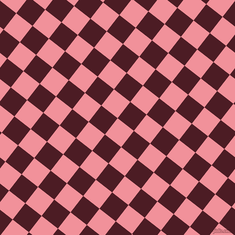 52/142 degree angle diagonal checkered chequered squares checker pattern checkers background, 41 pixel squares size, , Wewak and Bordeaux checkers chequered checkered squares seamless tileable