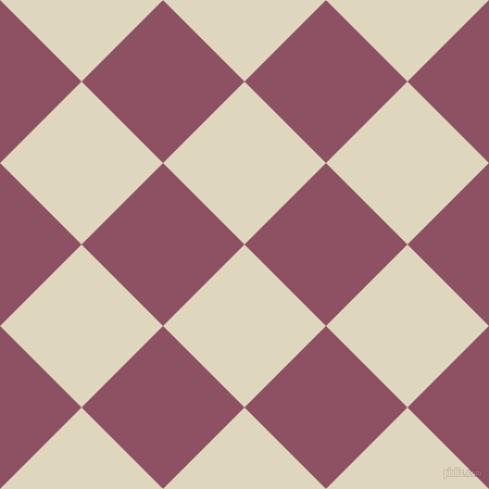 45/135 degree angle diagonal checkered chequered squares checker pattern checkers background, 106 pixel squares size, , Wheatfield and Cannon Pink checkers chequered checkered squares seamless tileable