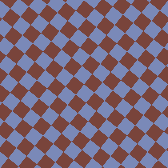51/141 degree angle diagonal checkered chequered squares checker pattern checkers background, 46 pixel square size, , Wild Blue Yonder and Bole checkers chequered checkered squares seamless tileable