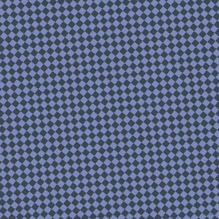 51/141 degree angle diagonal checkered chequered squares checker pattern checkers background, 19 pixel square size, , Wild Blue Yonder and Rhino checkers chequered checkered squares seamless tileable