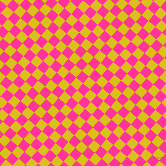 49/139 degree angle diagonal checkered chequered squares checker pattern checkers background, 30 pixel square size, , Wild Strawberry and Sunflower checkers chequered checkered squares seamless tileable