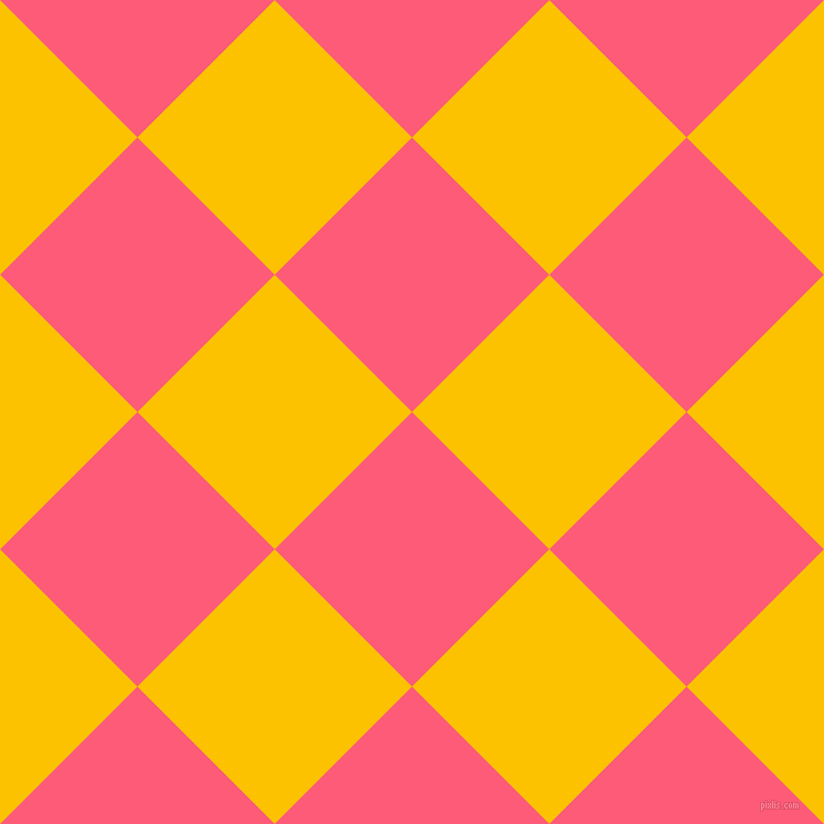 45/135 degree angle diagonal checkered chequered squares checker pattern checkers background, 176 pixel squares size, Wild Watermelon and Golden Poppy checkers chequered checkered squares seamless tileable