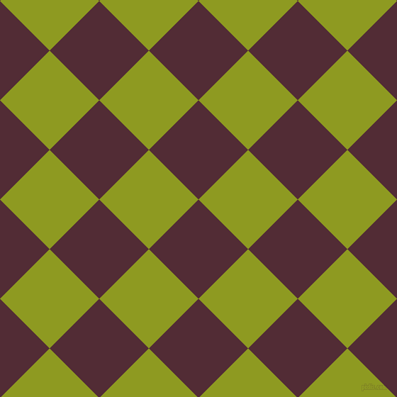 45/135 degree angle diagonal checkered chequered squares checker pattern checkers background, 99 pixel squares size, , Wine Berry and Citron checkers chequered checkered squares seamless tileable