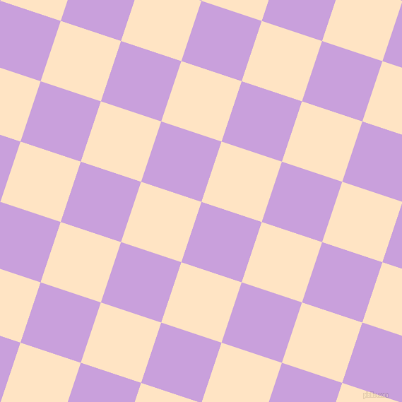 72/162 degree angle diagonal checkered chequered squares checker pattern checkers background, 90 pixel square size, , Wisteria and Bisque checkers chequered checkered squares seamless tileable