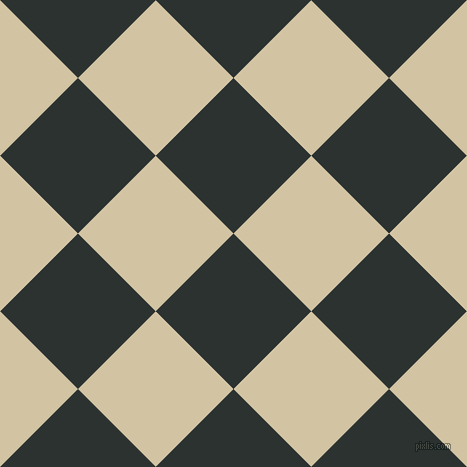 45/135 degree angle diagonal checkered chequered squares checker pattern checkers background, 110 pixel squares size, , Woodsmoke and Double Spanish White checkers chequered checkered squares seamless tileable