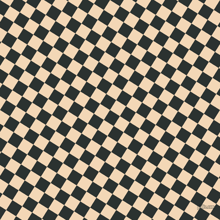 58/148 degree angle diagonal checkered chequered squares checker pattern checkers background, 24 pixel square size, , Woodsmoke and Pink Lady checkers chequered checkered squares seamless tileable