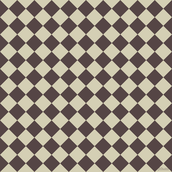 45/135 degree angle diagonal checkered chequered squares checker pattern checkers background, 40 pixel squares size, , Woody Brown and White Rock checkers chequered checkered squares seamless tileable
