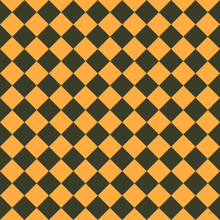 45/135 degree angle diagonal checkered chequered squares checker pattern checkers background, 59 pixel squares size, , Yellow Orange and Green Kelp checkers chequered checkered squares seamless tileable