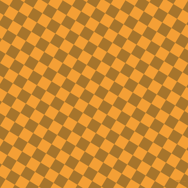 59/149 degree angle diagonal checkered chequered squares checker pattern checkers background, 37 pixel squares size, Yellow Sea and Hot Toddy checkers chequered checkered squares seamless tileable