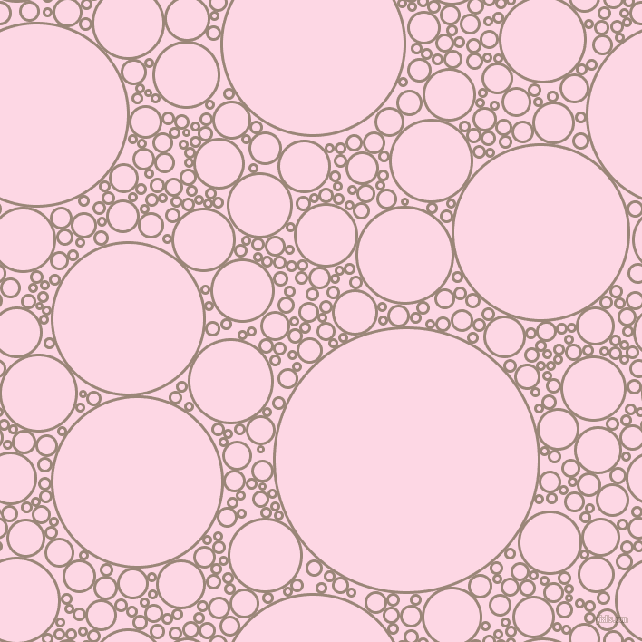 bubbles, circles, sponge, big, medium, small, 3 pixel line width, Almond Frost and Pig Pink circles bubbles sponge soap seamless tileable