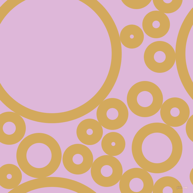 bubbles, circles, sponge, big, medium, small, 33 pixel line width, Apache and French Lilac circles bubbles sponge soap seamless tileable