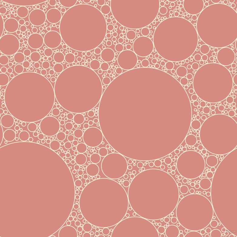 bubbles, circles, sponge, big, medium, small, 2 pixel line width, Apricot White and My Pink circles bubbles sponge soap seamless tileable