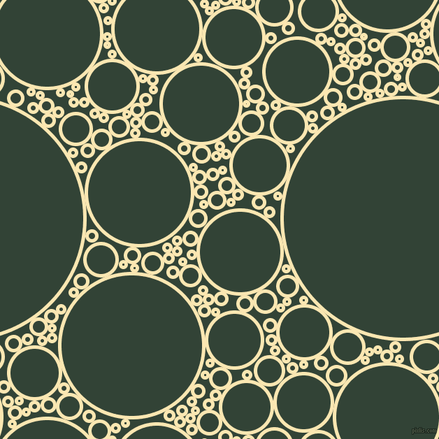 bubbles, circles, sponge, big, medium, small, 5 pixel line width, Banana Mania and Timber Green circles bubbles sponge soap seamless tileable