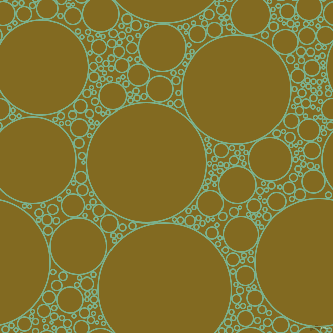 bubbles, circles, sponge, big, medium, small, 3 pixel line width, Bay Leaf and Yukon Gold circles bubbles sponge soap seamless tileable