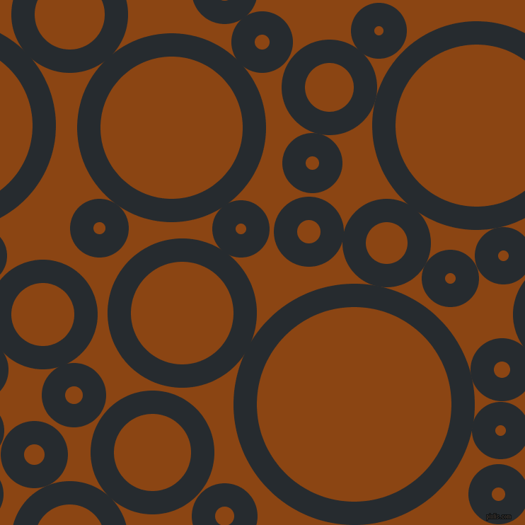 bubbles, circles, sponge, big, medium, small, 33 pixel line width, Blue Charcoal and Saddle Brown circles bubbles sponge soap seamless tileable