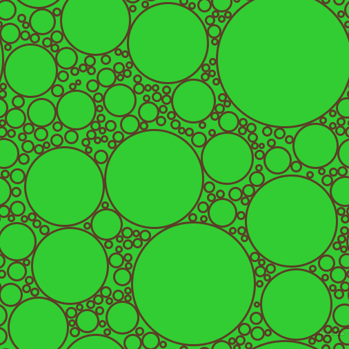 bubbles, circles, sponge, big, medium, small, 3 pixel line width, Bracken and Lime Green circles bubbles sponge soap seamless tileable