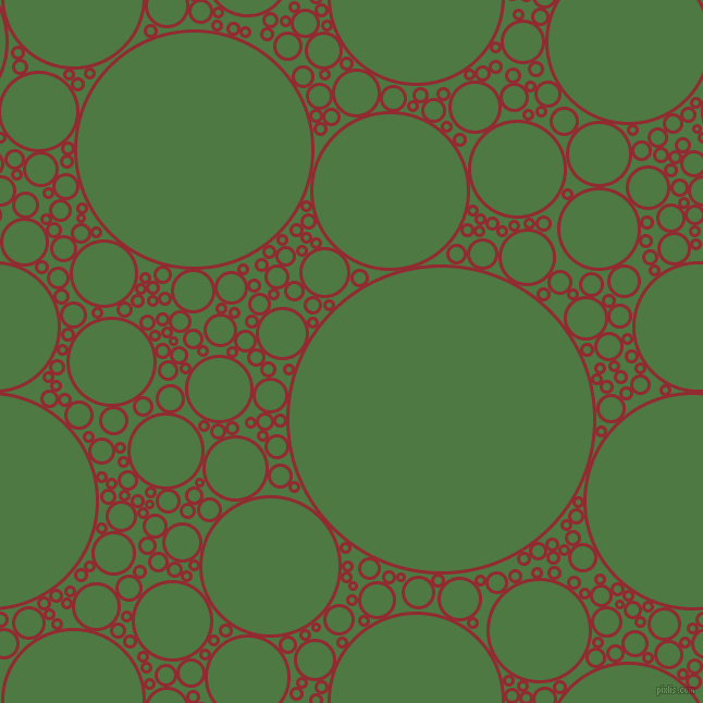 bubbles, circles, sponge, big, medium, small, 3 pixel line width, Bright Red and Fern Green circles bubbles sponge soap seamless tileable