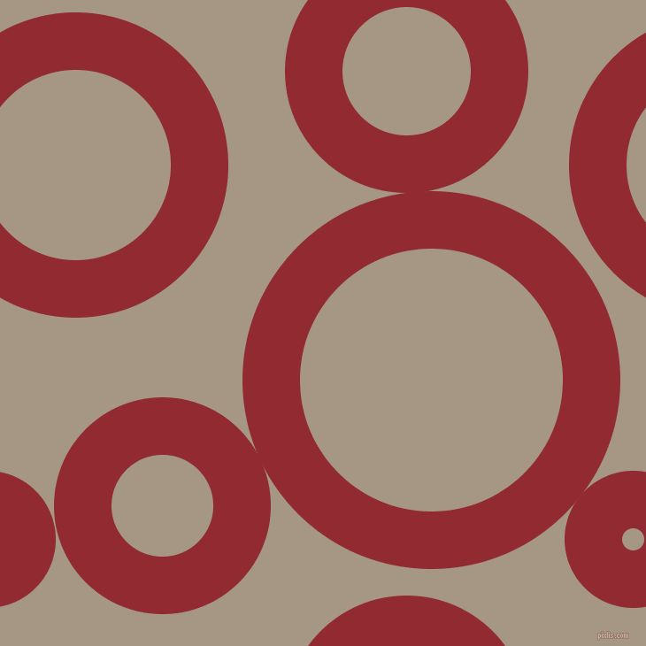 bubbles, circles, sponge, big, medium, small, 65 pixel line width, Bright Red and Malta circles bubbles sponge soap seamless tileable