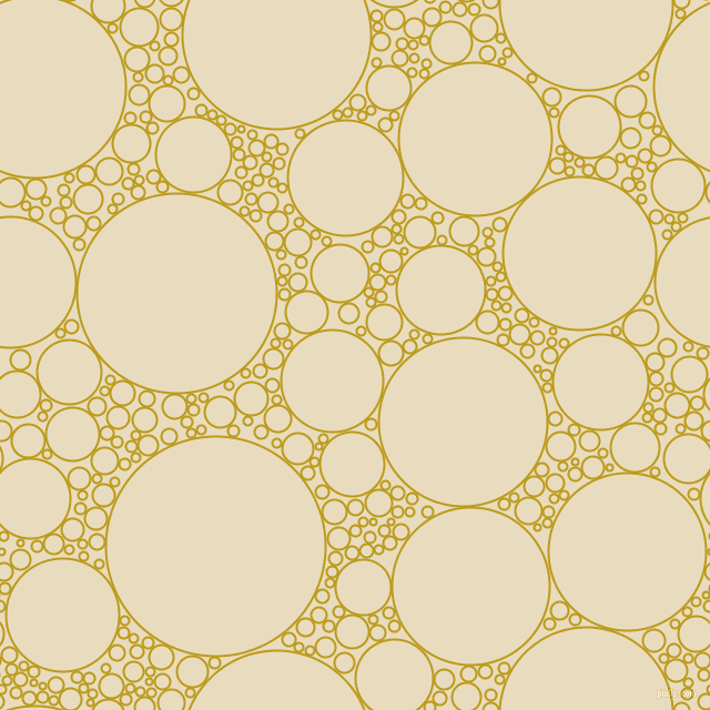bubbles, circles, sponge, big, medium, small, 2 pixel line width, Buddha Gold and Double Pearl Lusta circles bubbles sponge soap seamless tileable