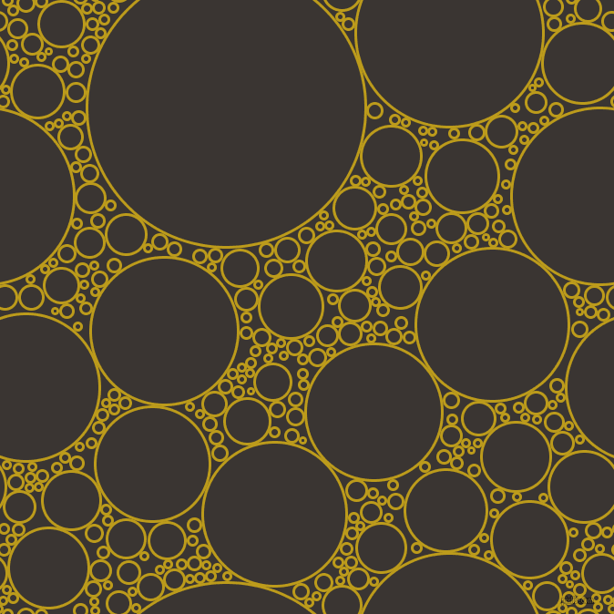 bubbles, circles, sponge, big, medium, small, 3 pixel line width, Buddha Gold and Kilamanjaro circles bubbles sponge soap seamless tileable