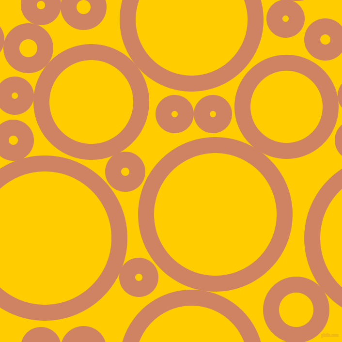 bubbles, circles, sponge, big, medium, small, 33 pixel line width, Burning Sand and Tangerine Yellow circles bubbles sponge soap seamless tileable