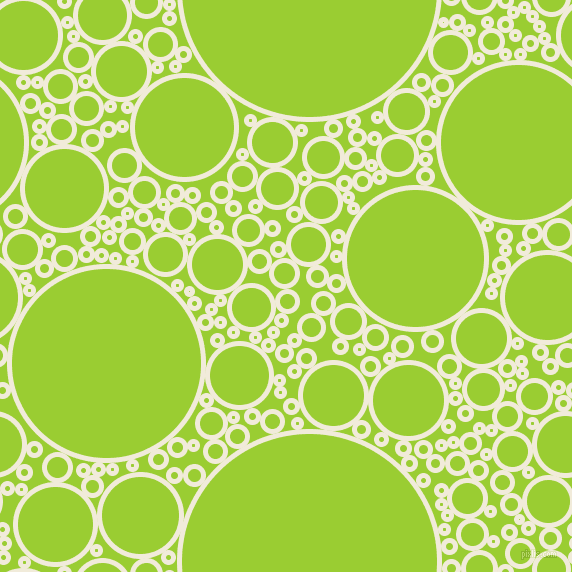 bubbles, circles, sponge, big, medium, small, 5 pixel line width, Buttery White and Yellow Green circles bubbles sponge soap seamless tileable