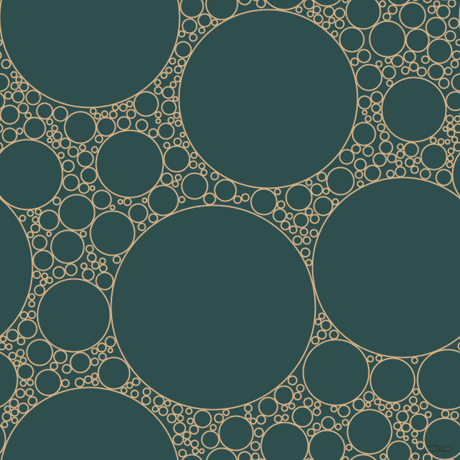 bubbles, circles, sponge, big, medium, small, 2 pixel line width, Calico and Dark Slate Grey circles bubbles sponge soap seamless tileable