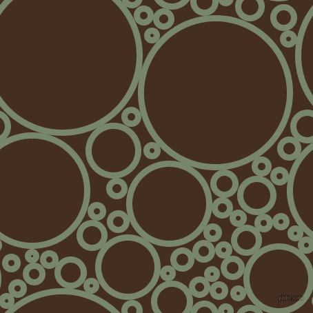 bubbles, circles, sponge, big, medium, small, 9 pixel line width, Camouflage Green and Morocco Brown circles bubbles sponge soap seamless tileable