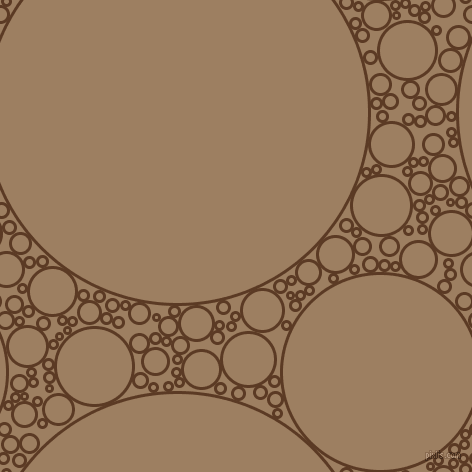 bubbles, circles, sponge, big, medium, small, 3 pixel line width, Carnaby Tan and Sorrell Brown circles bubbles sponge soap seamless tileable