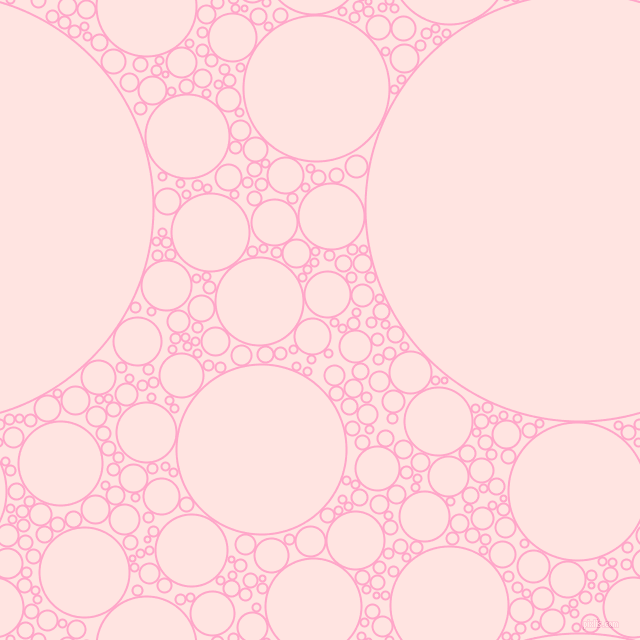 bubbles, circles, sponge, big, medium, small, 2 pixel line width, Carnation Pink and Misty Rose circles bubbles sponge soap seamless tileable