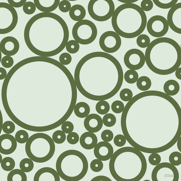 bubbles, circles, sponge, big, medium, small, 17 pixel line width, Chalet Green and Apple Green circles bubbles sponge soap seamless tileable
