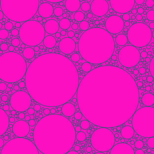 bubbles, circles, sponge, big, medium, small, 2 pixel line width, Chathams Blue and Shocking Pink circles bubbles sponge soap seamless tileable