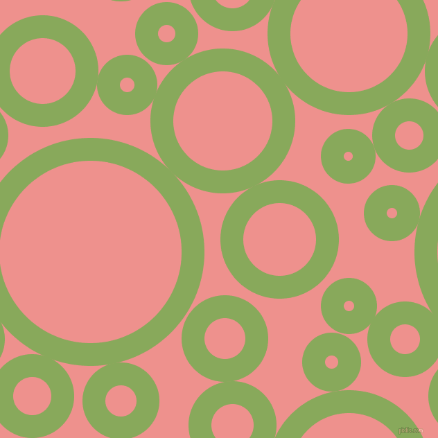 bubbles, circles, sponge, big, medium, small, 33 pixel line width, Chelsea Cucumber and Sweet Pink circles bubbles sponge soap seamless tileable